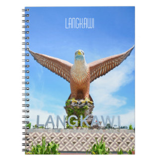 Langkawi Eagle Sculpture Malaysia Travelogue Spiral Notebooks