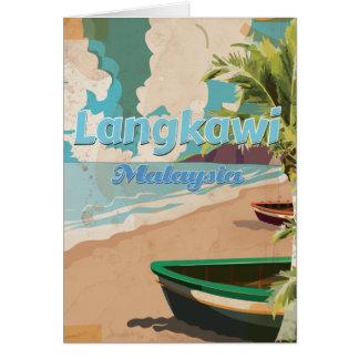 Langkawi Malaysia Vintage vacation Poster Card