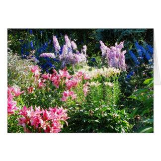 L'anglais fait du jardinage carte de voeux