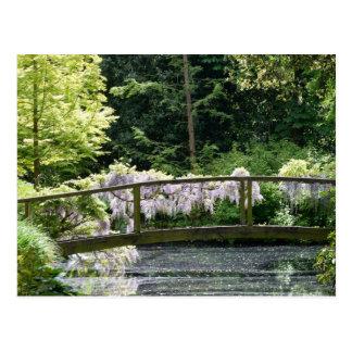 L'anglais Watergarden avec le pont Carte Postale