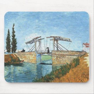 Langlois Bridge at Arles by Vincent van Gogh Mouse Pad