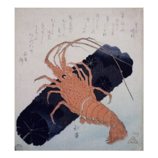 Langoustine with a Block of Charcoal, c.1830 Poster