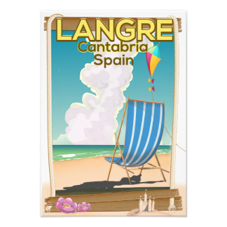 Langre, Cantabria Spain beach poster
