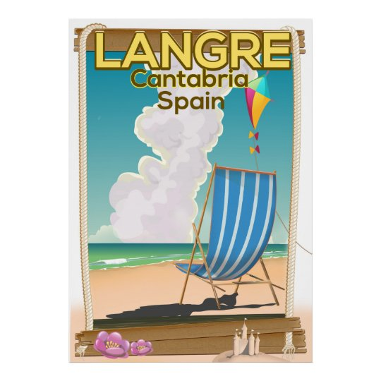 Langre, Cantabria Spain beach poster