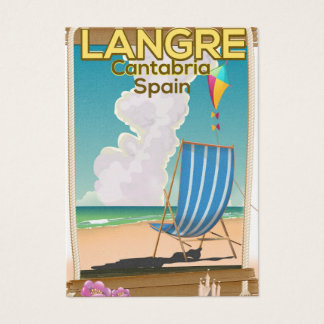 Langre, Cantabria Spain beach poster Business Card