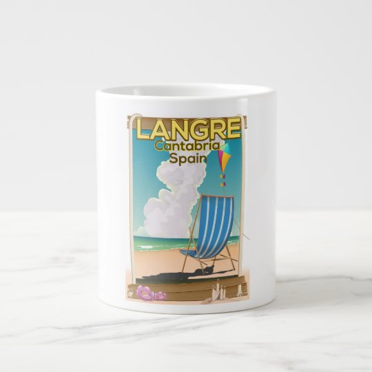 Langre, Cantabria Spain beach poster Large Coffee Mug