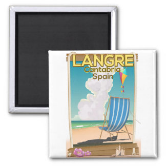 Langre, Cantabria Spain beach poster Magnet