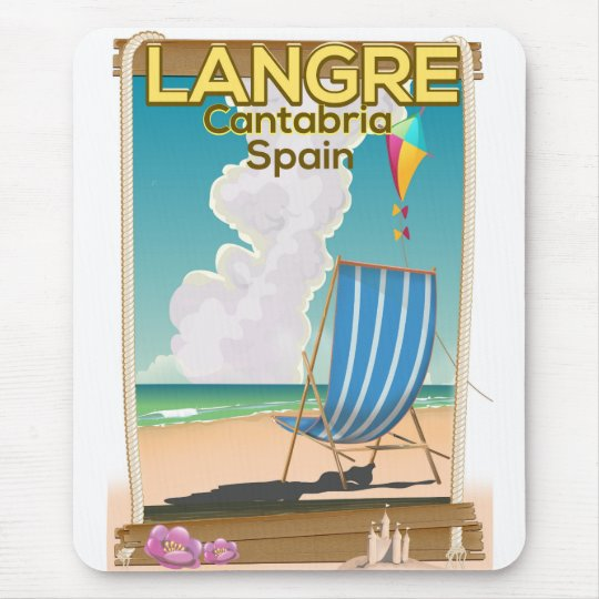 Langre, Cantabria Spain beach poster Mouse Pad
