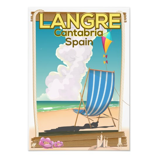 Langre, Cantabria Spain beach poster Photo Print