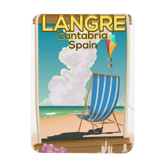 Langre, Cantabria Spain beach poster Rectangular Photo Magnet