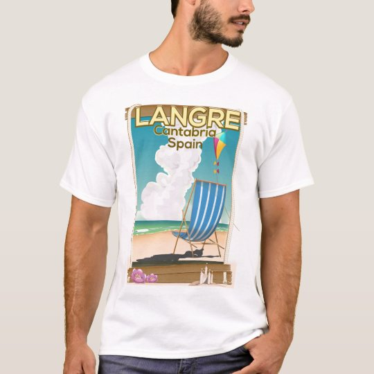 Langre, Cantabria Spain beach poster T-Shirt