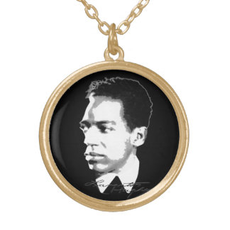 Langston Hughes Gold Plated Necklace
