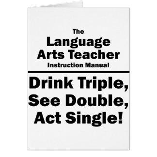 language arts teacher card