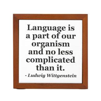 Language is part Quote Desk Organizer