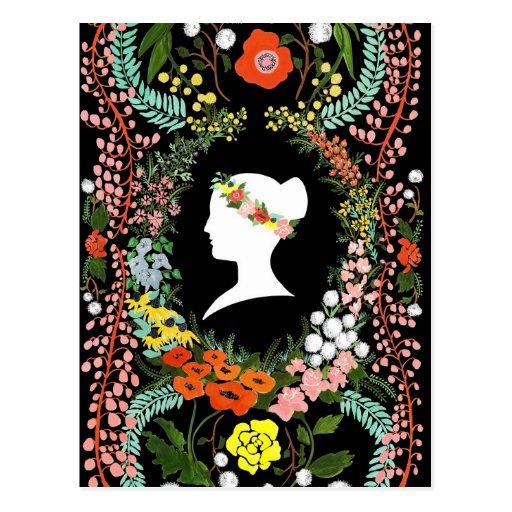 Language of Flowers blank postcard