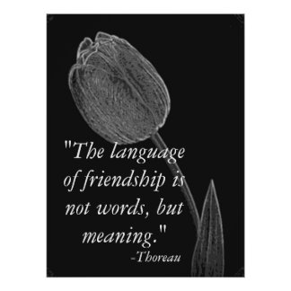 Language Of Friendship Poster. Poster