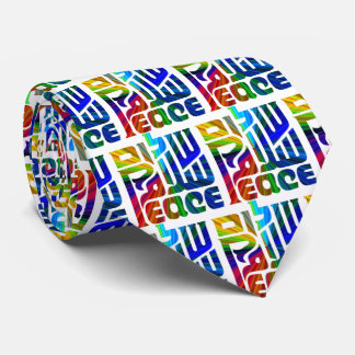 Language of Peace/Hebrew/English/Arabic Tie