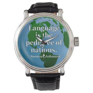 Language pedigree nations Quote. Globe Watch