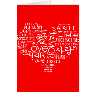 Languages of Love Heart Card