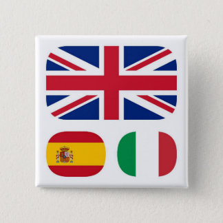 Languages-spoken-ling-parlate 2 Inch Square Button