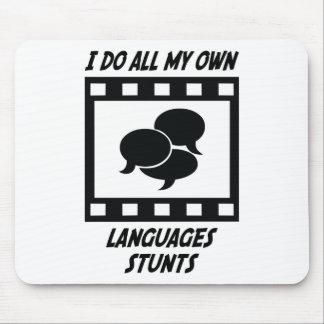 Languages Stunts Mouse Pad