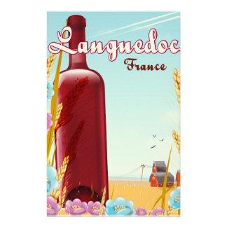 Languedoc France travel poster Stationery Design