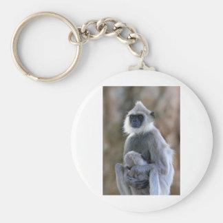Langur monkey keychain