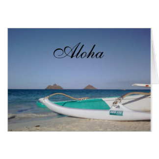 Lanikai Beach Aloha Greeting Card