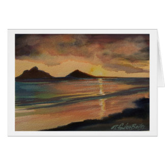 Lanikai Beach Sunrise Greeting Card