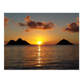 Lanikai Beach Sunrise Postcard