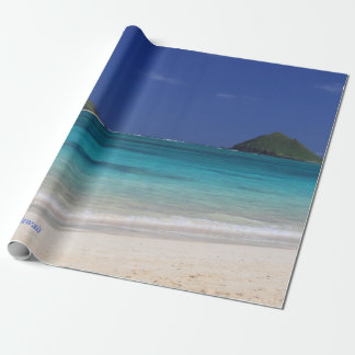 Lanikai Beach, voted # 1 beach in the world. Wrapping Paper