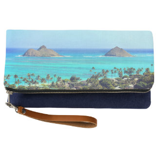 Lanikai Islands Kailua Blue Hawaiian Clutch