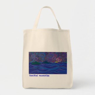 Lanikai Moonrise organic shopping bag