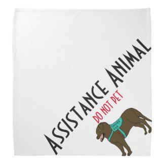 L'animal d'aide NE CHOIENT PAS Bandana