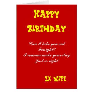 L'anniversaire ex d'épouse carte-peut I vous enlev Carte De Vœux