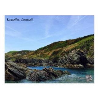 Lansallos Beach, Cornwall. Postcard