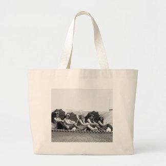 Lansburg Bathing Girls: 1922 Canvas Bags