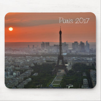 Lanscape View of Eiffel Tower, Paris France Mouse Pad