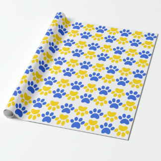 Lansing Bobcats paw print wrapping paper