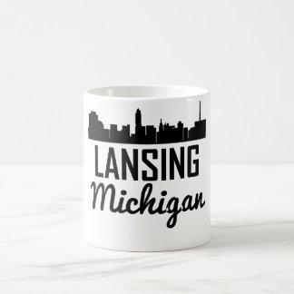 Lansing Michigan Skyline Coffee Mug