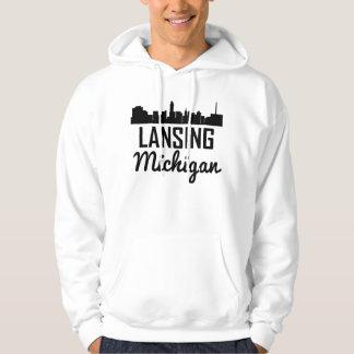 Lansing Michigan Skyline Hoodie