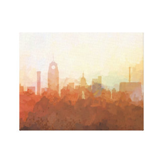 LANSING, MICHIGAN SKYLINE- In the Clouds Canvas
