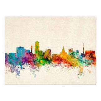 Lansing Michigan Skyline Photo Print