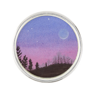 Lansing Moon and Stars Lapel Pin