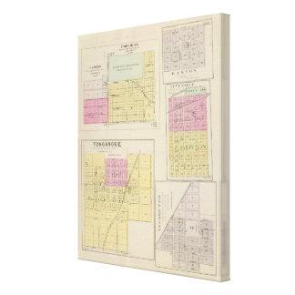 Lansing, Progress, Easton, Tonganoxie,, Kansas Canvas Print
