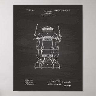 Lantern 1907 Patent Art Chalkboard Poster
