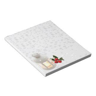 Lantern and Holly Notepad