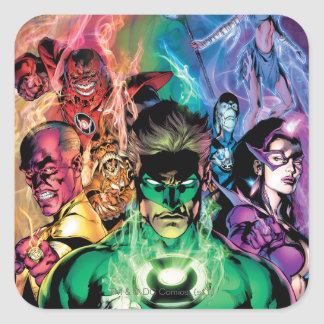 Lantern Corps Group with Colors Square Sticker