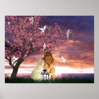 Lantern Fairies Poster Print