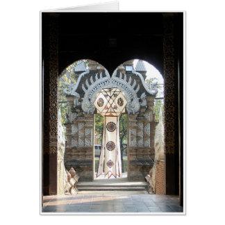 Lantern in Doorway Card